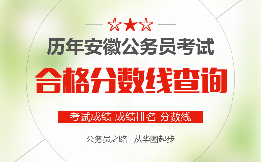2020年安徽公务员考试成绩合格分数线